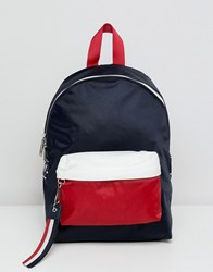 Tommy Jeans Backpack With Logo Tape Straps Multi