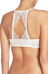 Honeydew Intimates Women's Lace Back Underwire Push Up Bra Petal Pink