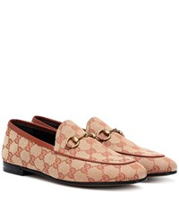 Gucci Jordaan Gg Canvas Loafers Beige