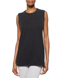 Iro Leila Sleeveless Slash Back Top Women's Black