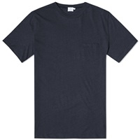 Sunspel Pocket Crew Neck Tee Navy
