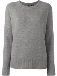 Theory Loose Fit Pullover Grey