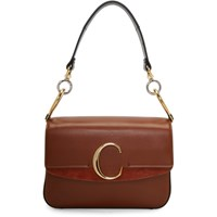 Chloe Brown Small C Double Carry Bag