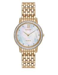 Citizen Silhouette Crystal Stainless Steel Bracelet Watch Rose Gold
