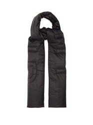 Givenchy Logo Quilted Technical Scarf Black