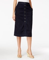 Styleandco. Style And Co. Button Down Denim Midi Skirt Only At Macy's Rinse
