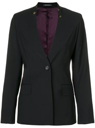 Paul Smith Ps By Floral Print Collar Blazer Black