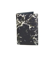 Alexander Mcqueen Camo Marble Print Bi Fold Leather Cardholder