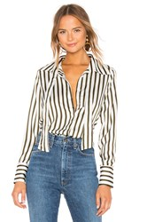 Line And Dot Charlotte Tied Shirt White
