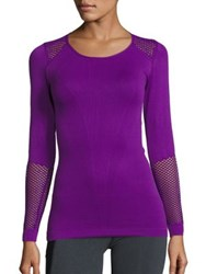 Alala Seamless Long Sleeve Tee Electric Purple