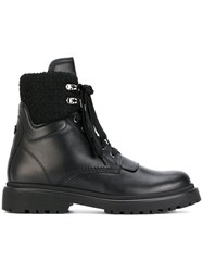 Moncler Patty Boots Women Leather Rubber 41 Black