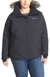 Plus Size Women's Columbia 'Lay D' Faux Fur Trim Hooded Down Jacket