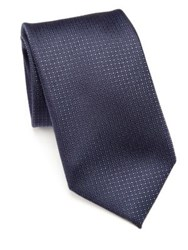 Pal Zileri Geometric Silk Tie Blue