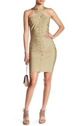 Wow Couture Multi Strap Bandage Dress Green