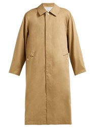 Chimala Peach Single Breasted Cotton Twill Trench Coat Camel