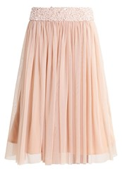 Lace And Beads Aline Skirt Pink Rose