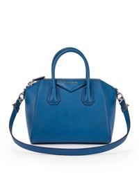 Antigona Small Sugar Satchel Bag Blue Givenchy
