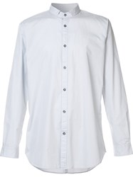 Zanerobe Band Collar Shirt Metallic