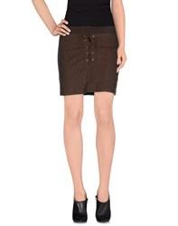 Trussardi Jeans Skirts Mini Skirts Women Brown