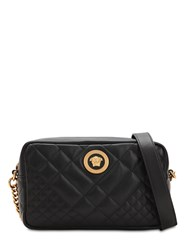Versace Icon Medium Quilted Leather Camera Bag Black