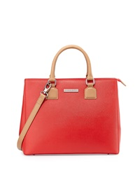 Charles Jourdan Lilac Medium Leather Satchel Red