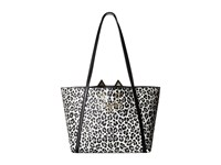 Charlotte Olympia Mini Feline Shopper Black White Leopard Printed Pvc Handbags Multi