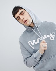 Money Hoodie In Grey With Back Print