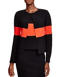 Armani Collezioni Color Blocked Wool Jacket Multi