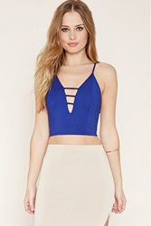 Forever 21 Ladder Cutout Crop Top