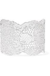 Aurelie Bidermann Lace Silver Plated Cuff One Size