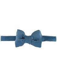 Tom Ford Polka Dots Bow Tie Blue