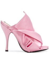 N 21 No21 Open Toe Bow Mules Pink And Purple
