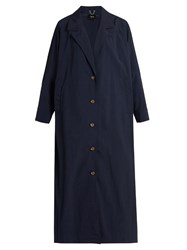 Rachel Comey Zia Oversized Trench Coat Navy