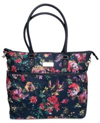 Jessica Simpson French Floral Tote Navy