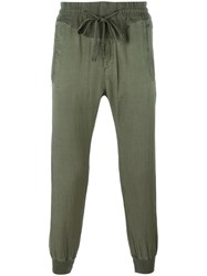 Haider Ackermann Cropped Tapered Track Pants Green