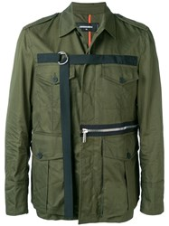 Dsquared2 D Ring Strap Military Jacket Green