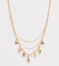 Monki Shell Design Detailed Necklace In Gold