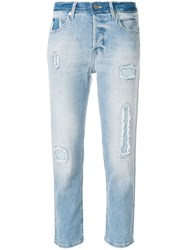 Zadig And Voltaire Elios Destroyed Jeans Blue