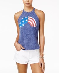 American Rag Juniors' Rainbow Graphic Tank Top Only At Macy's Heather Indigo