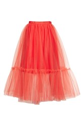 Topshop Giant Tutu Tulle Skirt Red