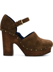 L'autre Chose Platform Mary Jane Pumps Brown