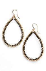 Sonya Renee Women's Sonyarenee 'Mazzy' Teardrop Earrings Pyrite