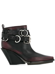 Ann Demeulemeester Buckle Detail Ankle Boots Black