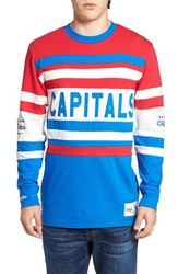 Mitchell And Ness Men's Capitals Open Net Pullover