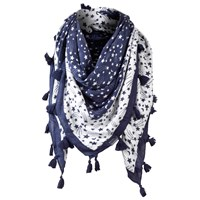 Fat Face Shooting Star Foil Snood Navy White