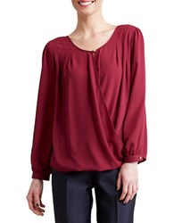 Paper Crown Venice Long Sleeve Top Spiced Wine