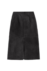 Alexa Chung For Ag Ortiz Suede Skirt Black