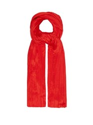 Pleats Please Issey Miyake Madame T Scarf Red