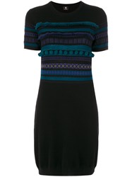 Paul Smith Ps By Pom Pom Knitted Dress Viscose Wool L Black