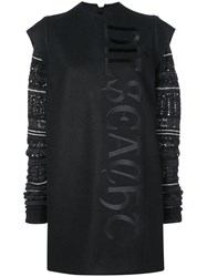 Vera Wang Fair Isle Knit Sleeve Dress Black